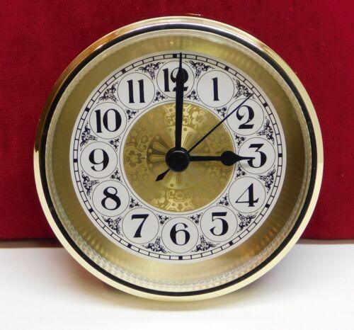 "3 1/2"" Quartz Clock Insert Fit Up Movement 90 mm Fancy Gold Arabic Dial GGFA3.5"
