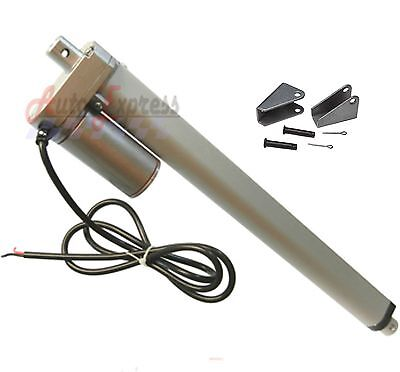 Heavy Duty 18  Linear Actuator With Bracket Stroke 12 Volt Dc 200 Pound Max Lift