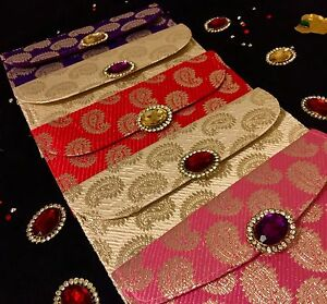 Brocade Salami Shagun Wedding Money Gift Cash Envelope Indian Wedding Accessory
