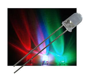 100 St. 5mm RGB LED LANGSAMER FARBWECHSEL ULTRAHELL