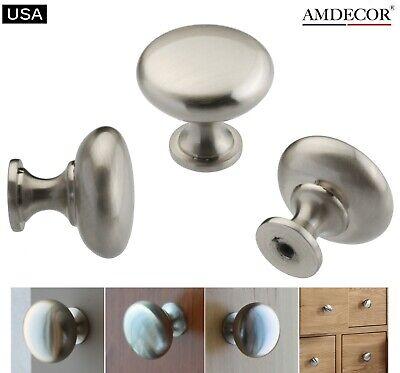 Amdecor Satin Nickel Modern Cabinet Pull Handle Cup knob Hardware N48304.30SN Pull Knob Hardware