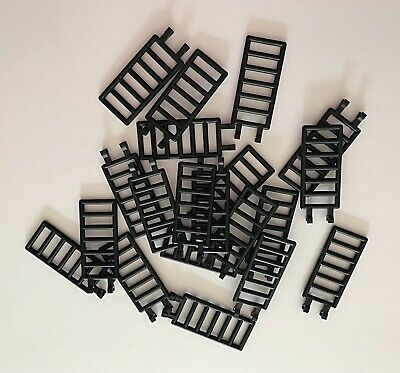 LEGO 20 pc Black Bar 7x3 With Double Clips Lot Part  6020 Fence Railing Ladder for sale  Tampa