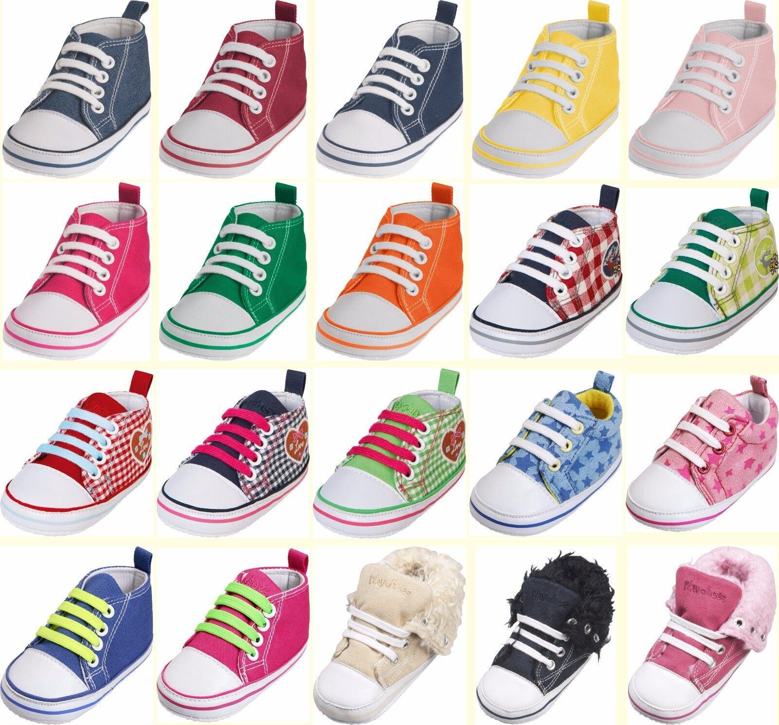 Playshoes Canvas Sneaker Turnschuhe Textil Baby Schuhe Mädchen Jungen Gr. 16 -20