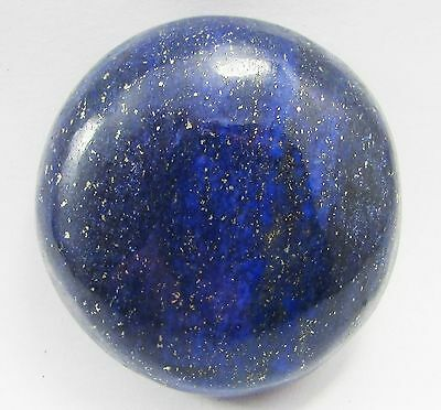 LARGE 18mm ROUND CABOCHON-CUT ROYAL-BLUE NATURAL LAPIS LAZULI GEMSTONE £1 NR!