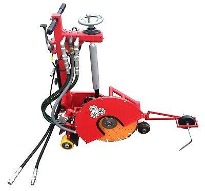 Hydraulic Concrete Cutting Walk Behind Push Adjustable Saw - 16