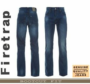 GENUINE-FIRETRAP-MENS-JEANS-ORIGINAL-BOOT-CUT-WAIST-SIZE-32-34-36-38-40