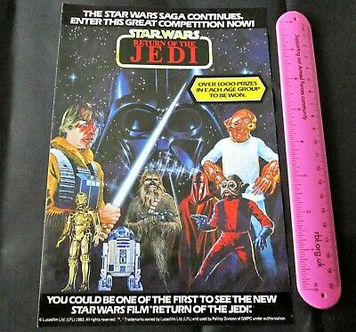 Star Wars. PALITOY. 1983 promo Return of the Jedi Drawing leaflet.action figure