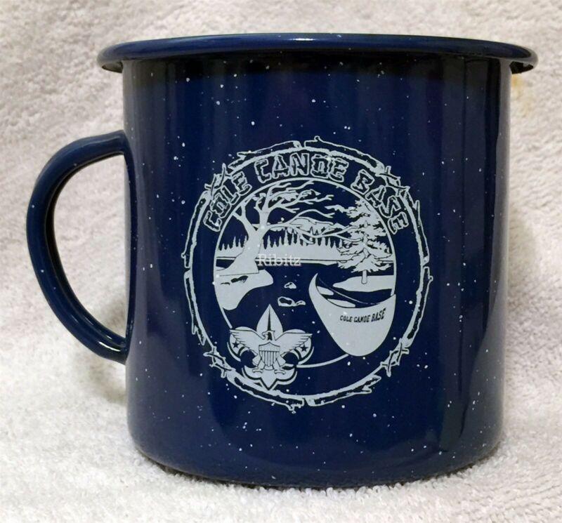 BSA Mug - COLE CANOE BASE - Michigan Crossroads Council - metal - blue