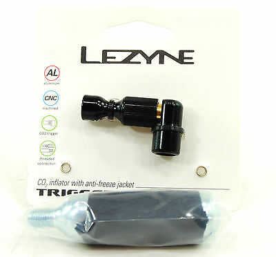Lezyne Trigger Drive Co2 Inflator 23g includes 16g CO2 Cartridge