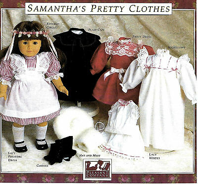 SAMANTHA'S PRETTY CLOTHES PATTERN~PLEASANT COMPANY~AMERICAN GIRL~1990 NEW~SEALED