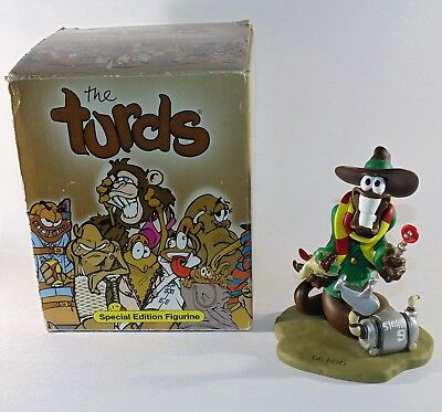 The Turds Figurines Dr Poo Who & Strain 9 K-9   in Box