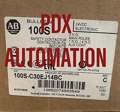 NEW 100S-C30EJ14BC Allen Bradley Safety Contactor Catalog 100S-C30EJ14BC Ser C