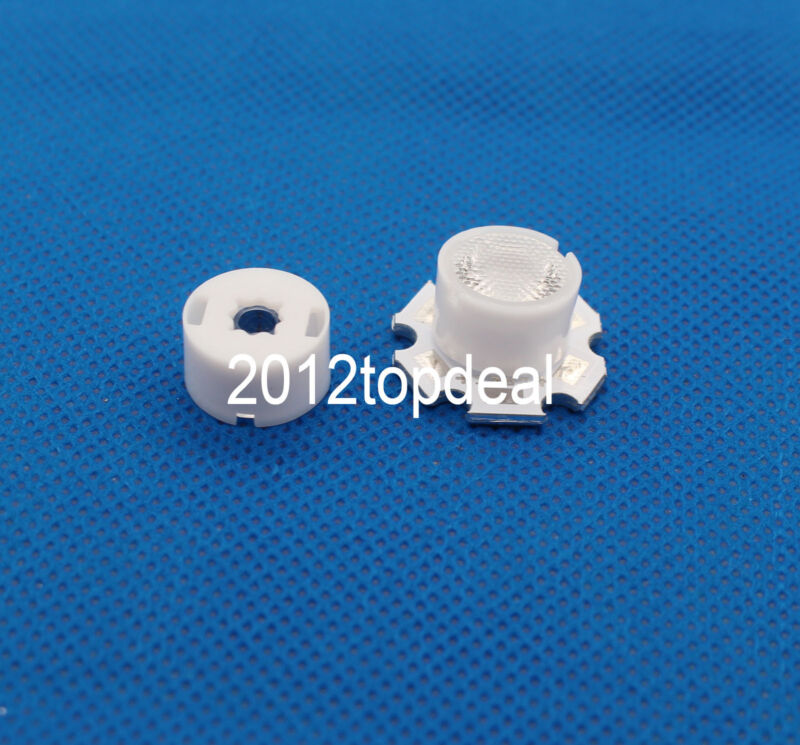 50PCS x 90 Degree 13x12.5mm frosted Lens For Cree XPE XPG XTE LED For DIY