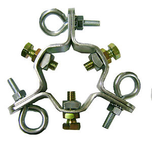 EZ-43-A-Adjustable-3-Way-Down-Guy-Ring-for-up-to-2-1-2-Mast-Heavy-Duty-NEW