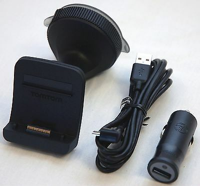 NEW GENUINE TomTom GO 500 600 Windshield Suction Mount + Car Charger 5000/6000