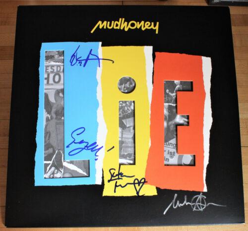 MUDHONEY Signed LIE VINYL Record Mark Arm, Steve, Dan, Guy