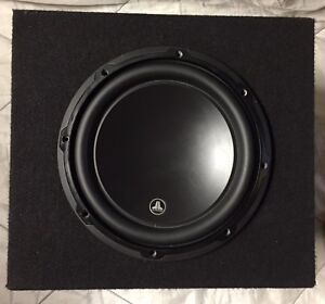 "JL Audio 10"" W3 sub and box"
