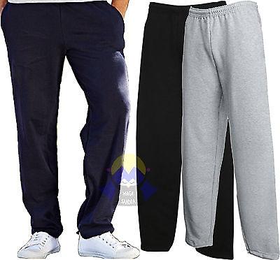 Pantaloni Felpati da Uomo FRUIT OF THE LOOM Nuovi Felpati FONDO DRITTO Tuta Mens