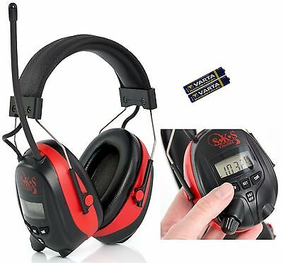 SKS 1180 Digital Radio FM/AM Kapselgehörschutz Kopfhörer MP3 AUX