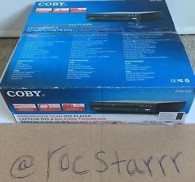 Coby DVD224 DVD Player Progressive Scan with Manual/Remote Opened Box/Resealed Coby Digital Tuner Cd Player