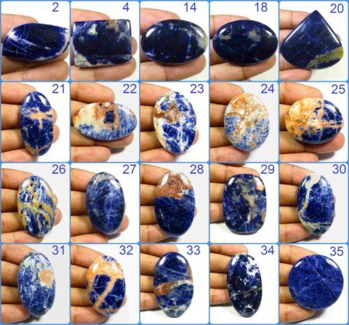 NATURAL DEEP BLUE SODALITE CABOCHON MIX SHAPE LOOSE GEMSTONE JEWELRY USE SD-C