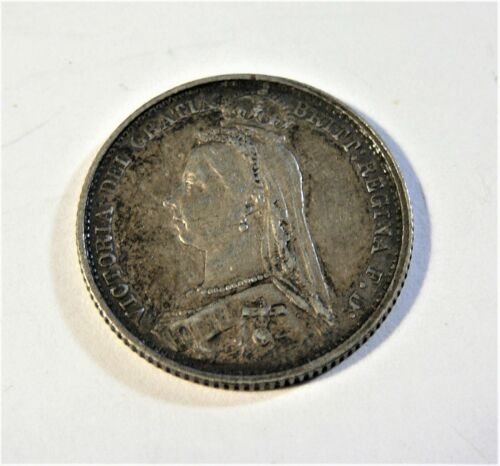 1887 Great Britain Silver Six Pence SB1