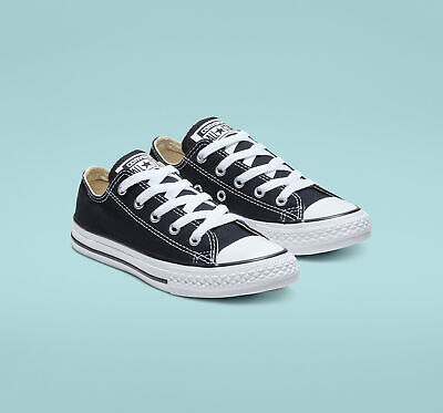 Converse Chuck Taylor All Star Unisex Kids Sneakers Size US 10 Black Canvas