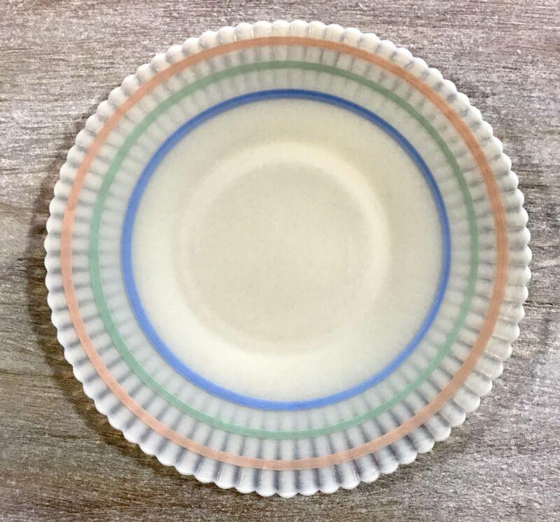 "RARE MINT Macbeth Evans Petalware Monax Pastel Banded Dinner Plate 10-5/8"""
