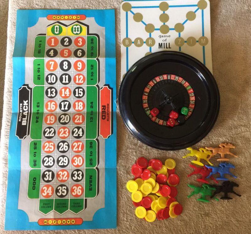 Vintage Toy Bar Zim Roulette And Horse Racing Replacement Pieces