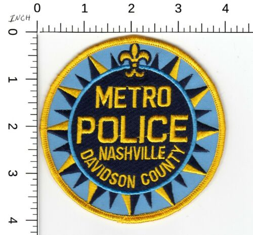 METRO POLICE NASHVILLE DAVIDSION COUNTY TENNESSEE TN PATCH LB