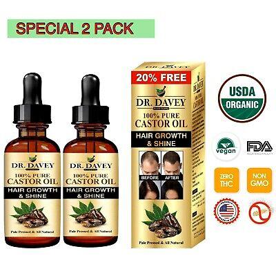 2X Castor Oil Hair Growth Treatment Castor Beard Oil Works best wit Minoxidil