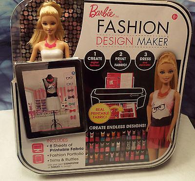 Barbie Fashion Design Dress Maker Ccg95 Blonde Doll Create Print To Fabric App