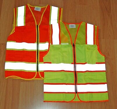 SAFETY VEST REFLECTIVE CLASS 2 HI-VIZ ORANGE or YELLOW CLASS II (small only)