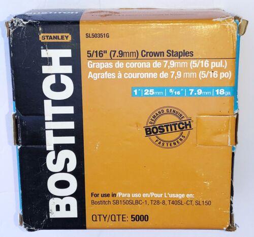BOSTITCH SL50351G 1-by-5/16-Inch 18-Gauge Staples, 5000-Per