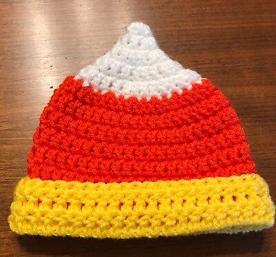 Candy Corn Newborn Baby Hat: Newly Crocheted