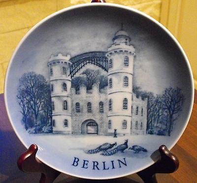 """Alter Sammelteller Städteteller Royal Copenhagen Berlin No.1 """"Das Schloß auf der"""
