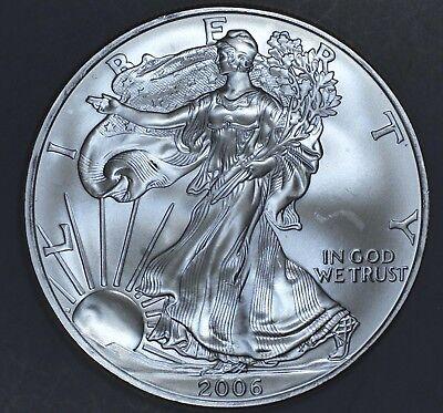 2006 1 oz AMERICAN SILVER EAGLE BRILLIANT UNCIRCULATED ASE  SKU2006B