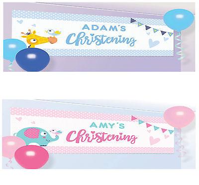 Personalisierte Taufe Banner Schild Party Dekoration Baby Girl oder junge