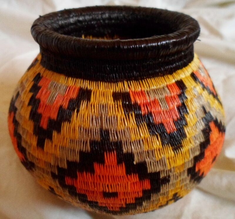 Wounaan Embera Woven Classic Design Basket-Panama 20121702mm