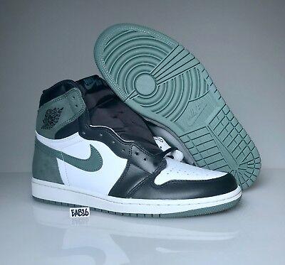 Nike Air Jordan Retro 1 OG Clay Green 555088 135 White Black Best Hand In