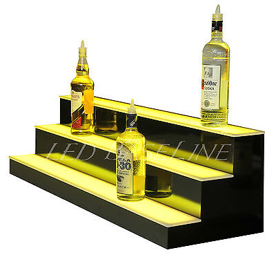 44 Led Lighted Bar Shelves 3 Step Led Liquor Bottle Displ Display Shelving