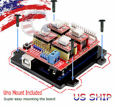 Arduino Cnc Kit With Uno R3 4 X A4988 Drivers Grbl Compatible Router Ttl