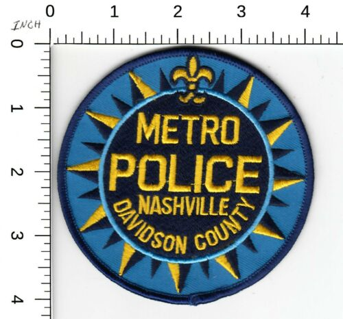 METRO POLICE NASHVILLE DAVIDSION COUNTY TENNESSEE TN PATCH DB