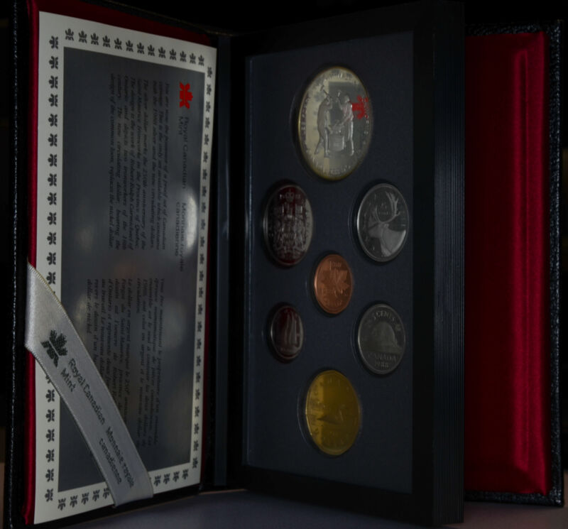 Canada 1988 KM#PS8 7 coins in original case and COA