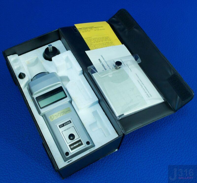 1663 Shimpo Hand Held Digital Tachometer Dt-205b