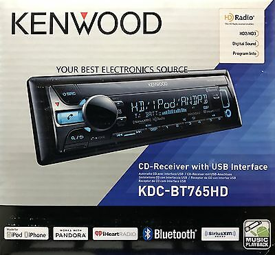 NEW KENWOOD KDC-BT765HD Single DIN w/ Bluetooth CD/USB/MP3 Receiver, HD Radio