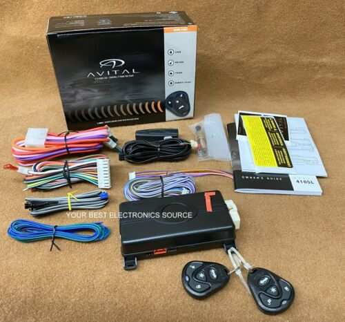 NEW Avital 4105L Remote Start System with Two 4-Button Controls