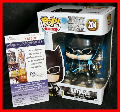 🔥 Rare Ben Affleck Signed Batman Justice League Funko POP JSA PSA BAS 🔥