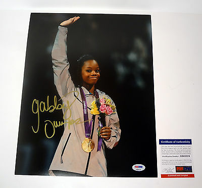 Gabrielle Gabby Douglas Rio Olympics Signed Autograph 11X14 Photo Psa Dna Coa D