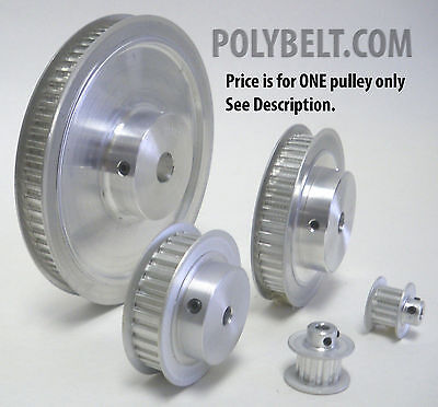 14XL037 Aluminum Timing Belt Pulley 14 Tooth, 0.25 Bore, 2 Flanges, 2 Set Screws